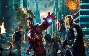 Avengers poster iron man hulk thor 300x187 Non Expert Thoughts on The Avengers