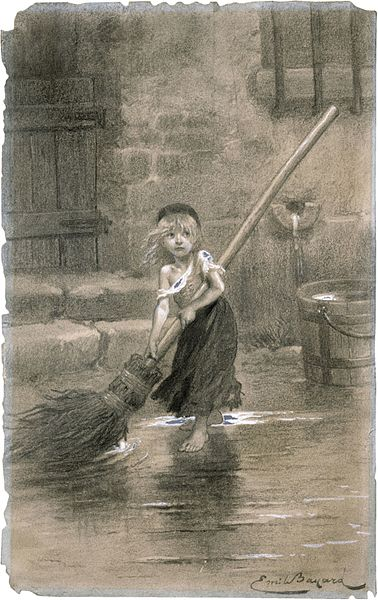 Cosette sweeping les miserables emile bayard 1862 A Review of All Things Misérables